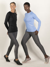 Load image into Gallery viewer, bloquv full zip long sleeve women's performance running black