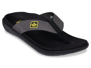 spenco recovery sandal pure black
