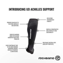 Load image into Gallery viewer, rehband achilles support sleeve detailed description
