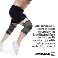 Load image into Gallery viewer, rehband knee support knitted sleeve grey benefits