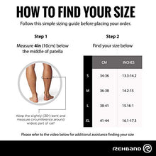 Load image into Gallery viewer, rehband achilles support sleeve sizing guide
