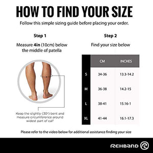 rehband achilles support sleeve sizing guide