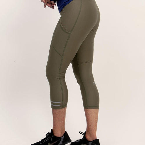 bloquv compression sun protection running women's capris army green