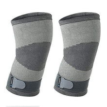 Load image into Gallery viewer, rehband knee support knitted sleeve grey