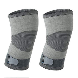 rehband knee support knitted sleeve grey