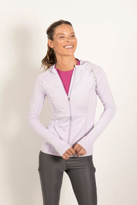 Bloquv sun protection running hoodie Lavender