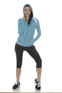 Bloquv sun protection running hoodie Teal
