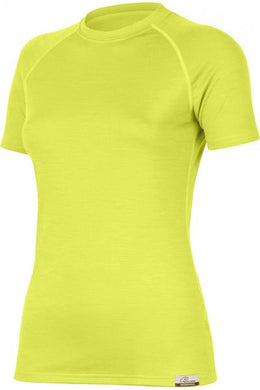 lasting alea merino 160 running performance short sleeve women's yellow
