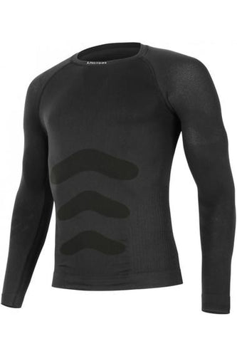 lasting men's apol seamless 180 performance running long sleeve black