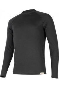 lasting atar men's 160g merino wool long sleeve performance running black