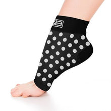 Load image into Gallery viewer, go2 ankle compression sleeve black and white