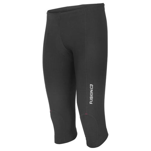 fusion c3 3/4 tri tights unisex black front
