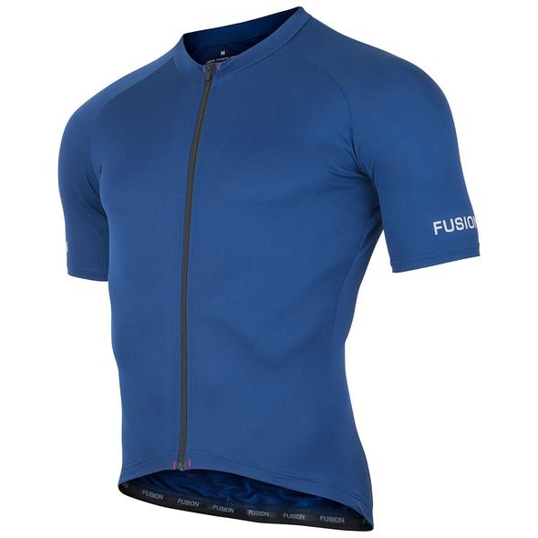 fusion c3 cycling jersey unisex front navy