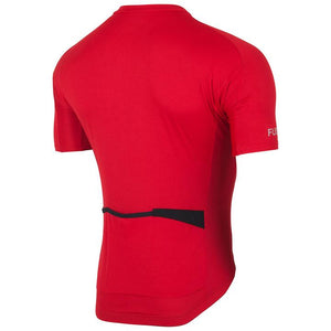 fusion c3 cycling jersey unisex back red