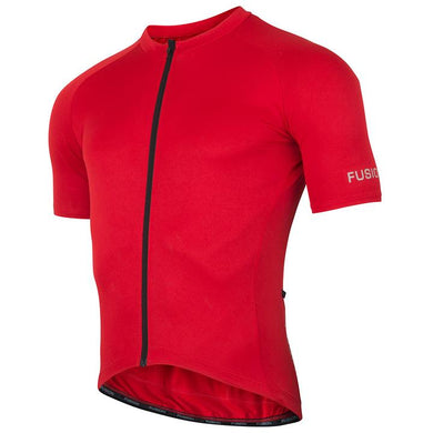 fusion c3 cycling jersey unisex front red