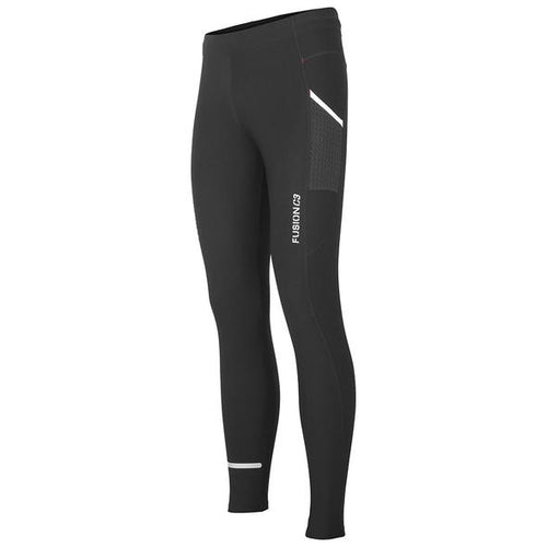 fusion c3 long running tights unisex black front