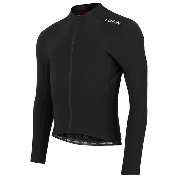fusion c3 hot ls cycling jersey black front