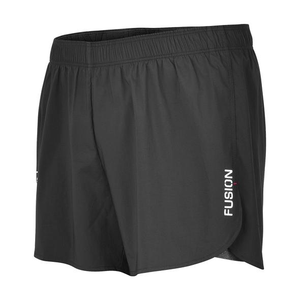fusion running shorts c3 black 3.5
