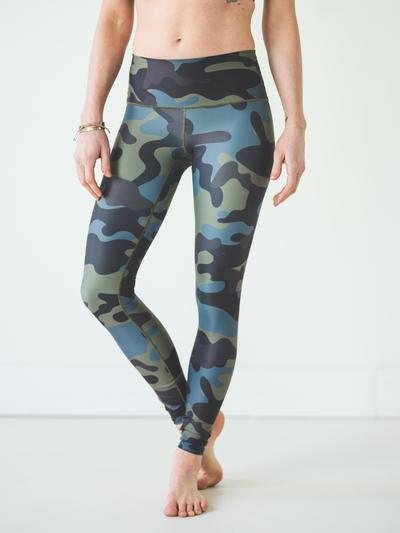 moss camo women's leggings by colorado threads