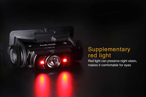 fenix hl60r headlamp black red light