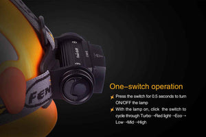 fenix hl60r headlamp black operation details