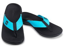 Load image into Gallery viewer, spenco pure recovery sandal bluebird pair