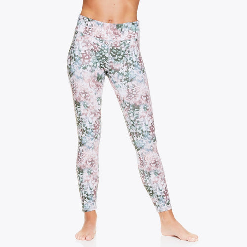 gaiam women's performance running leggings floral pattern