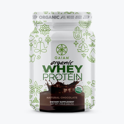 gaim organic whey protein supplement chocolate 1 lb