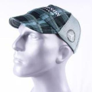 gray plaid carson footwear performance running hat