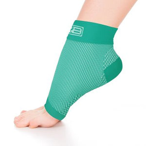 go2 ankle compression sleeve green white