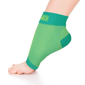 go2 ankle compression sleeve green and yellow