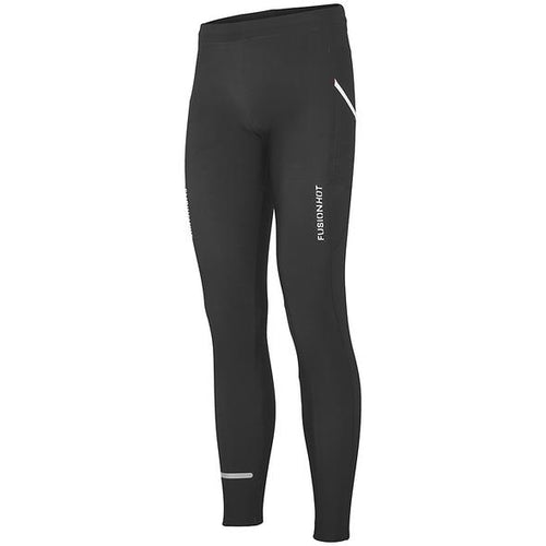 fusion hot long running tights unisex black