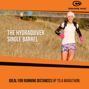 orange mud hydraquiver single barrel woman running