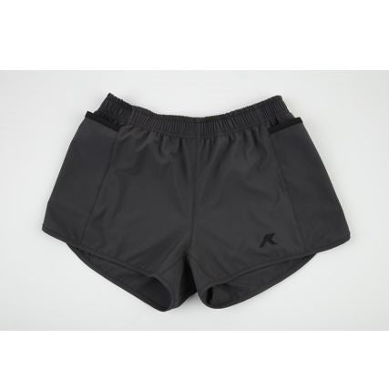 Kippo women's performance smartphone shorts grey with black trim