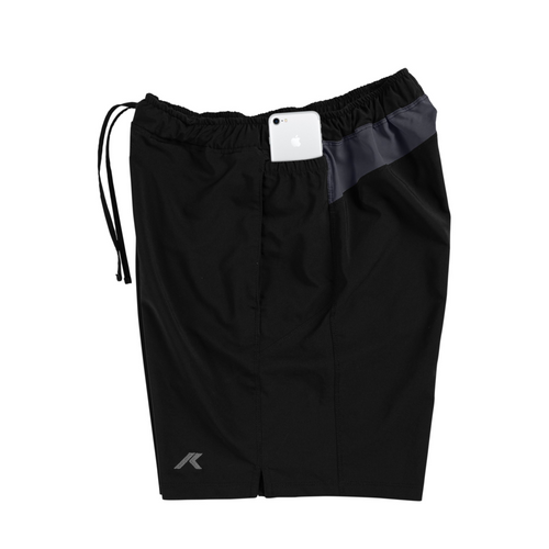 All Black Smartphone Shorts Men's