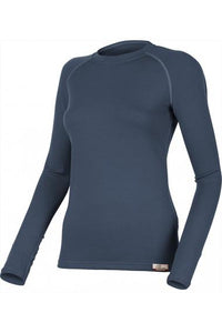 lasting lena 260g merino wool performance running long sleeve women's navy