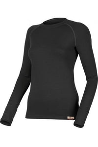 lasting lena 260g merino wool performance running long sleeve women's black