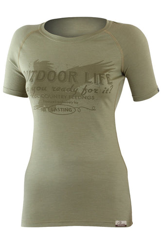 lasting life merino 160 performance running t shirt women's