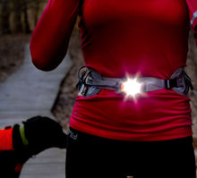 Load image into Gallery viewer, woman runner wearing litebelt 150