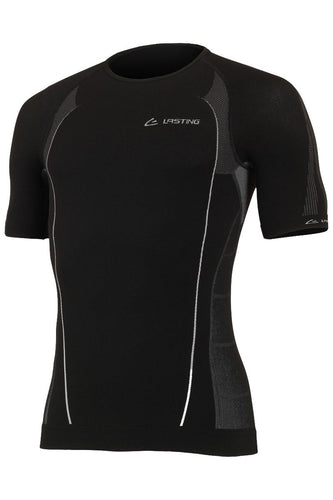 lasting men's mars seamless 100 performance running short sleeve men's