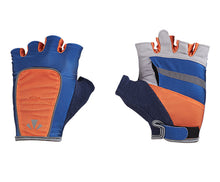 Load image into Gallery viewer, runlites led running light half glove broncos