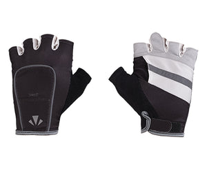 runlites led running light half glove charcoal and white