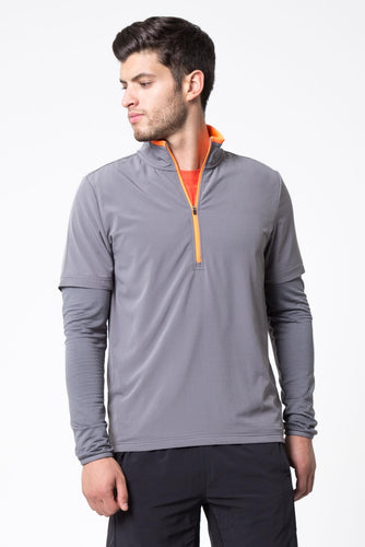 mpg runner's high 1/4 zip long sleeve shirt men's