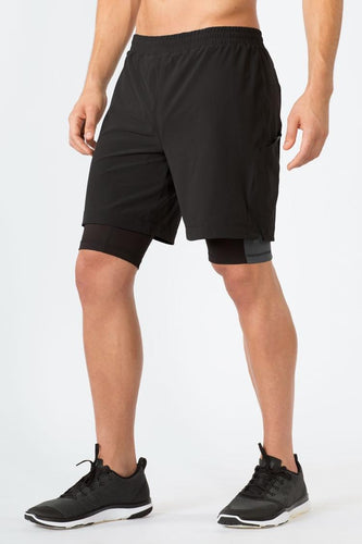 mpg men's up your game running 2-in-1 shorts black