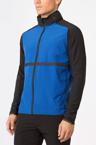 mpg trifects men's running jacket cobalt