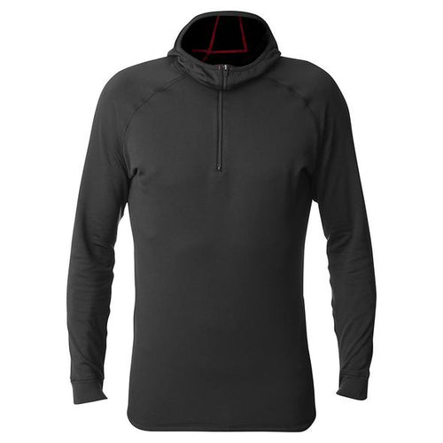 fusion men's c3 performance running long sleeve hoodie black