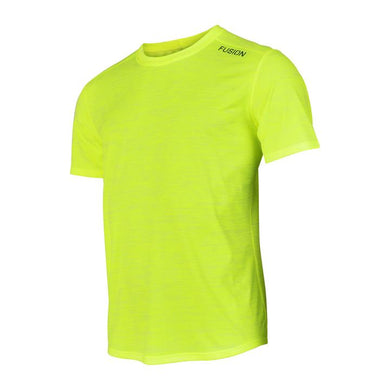 fusion mens c3 running short sleeve shirt yellow