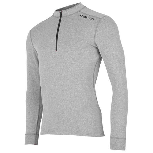 fusion c3 men's performance running 1/4 zip shirt gray