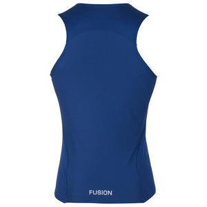 fusion c3 performance running singlet women's midnight back