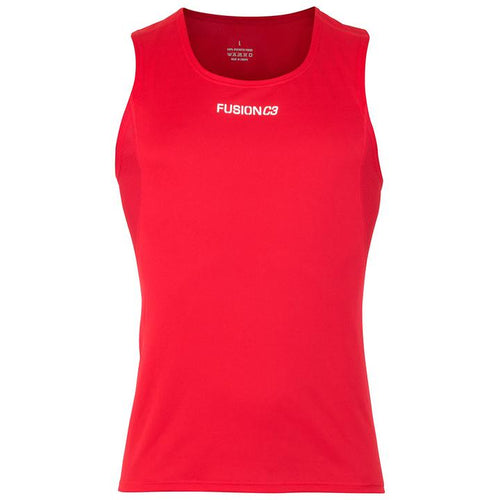 fusion c3 performance running singlet men's red
